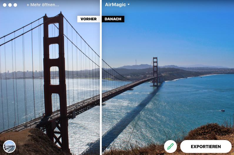 Screenshot 1 - Skylum AirMagic – Kostenlose Vollversion für 1 Jahr (Mac)