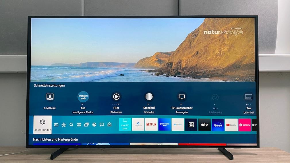 Bezüglich smarter Funktionen und Apps ist The Frame ein typischer Samsung-Fernseher.
