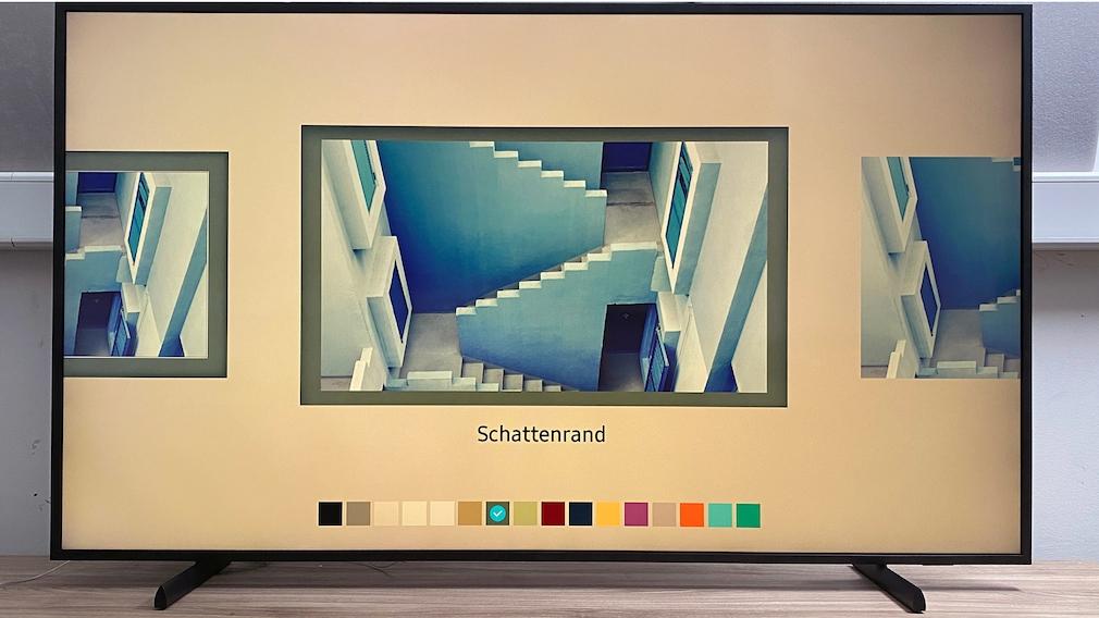 Hintergrund, Einfassung, Bildgröße und vieles mehr lässt sich für den Kunst-Modus vorwählen – und natürlich das Motiv.