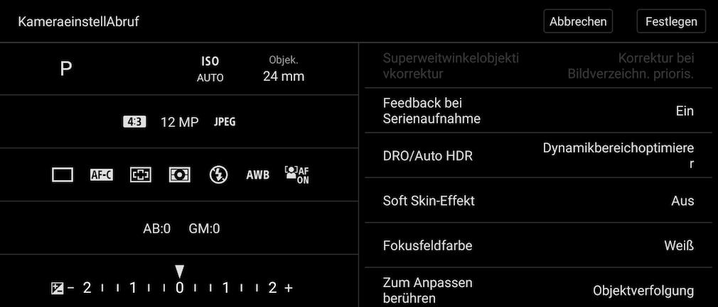 Manuel Preset Sony Xperia 5 III