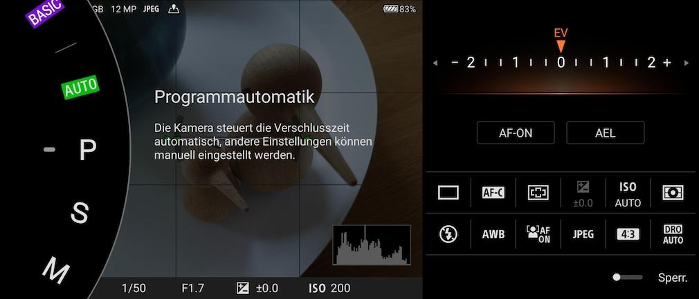Programmautomatik Sony Xperia 5 III
