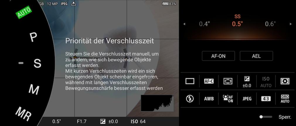 Verschlusszeit Sony Xperia 5 III
