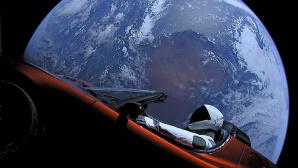 Tesla Roadster im All©SpaceX @Fllickr