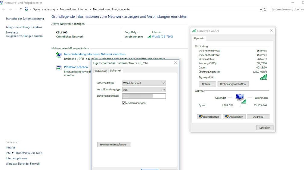 WLAN-Passwort anzeigen: Windows 10