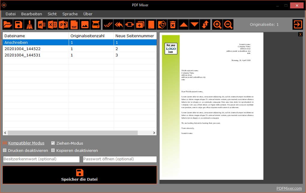 Screenshot 1 - PDF Mixer