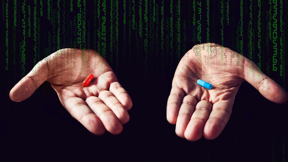 Rote und blaue Pille