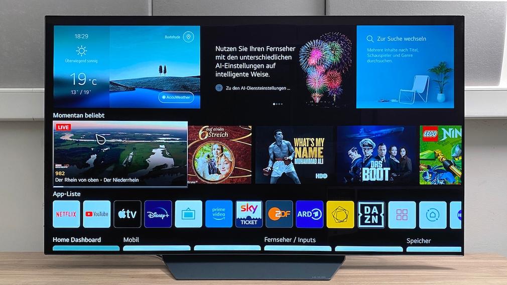 Auf dem LG OLED B1 lassen sich die Apps der allermeisten Streaming-Anbieter installieren.