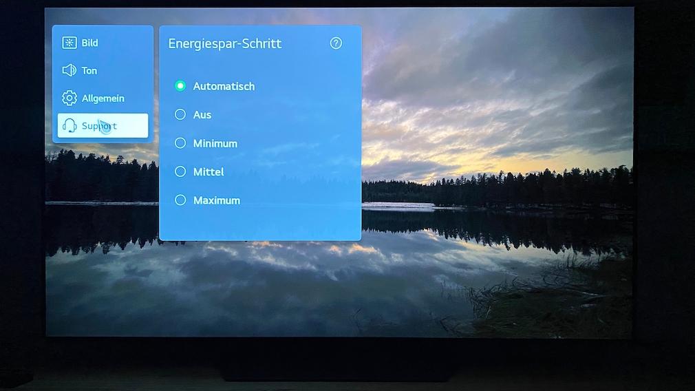 Der LG-Fernseher verfügt über eine gute Bildanpassung an die Raumhelligkeit