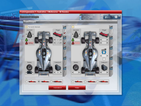 Simulation RTL Racing Team Manager: Boxenstrategie
