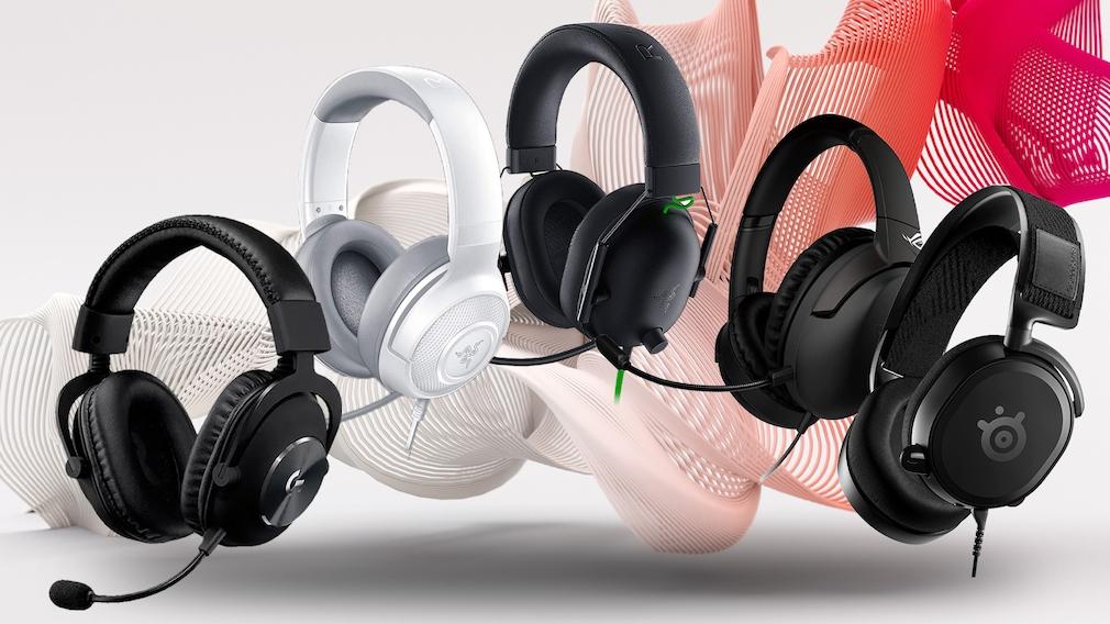 Fünf Gaming-Headsets