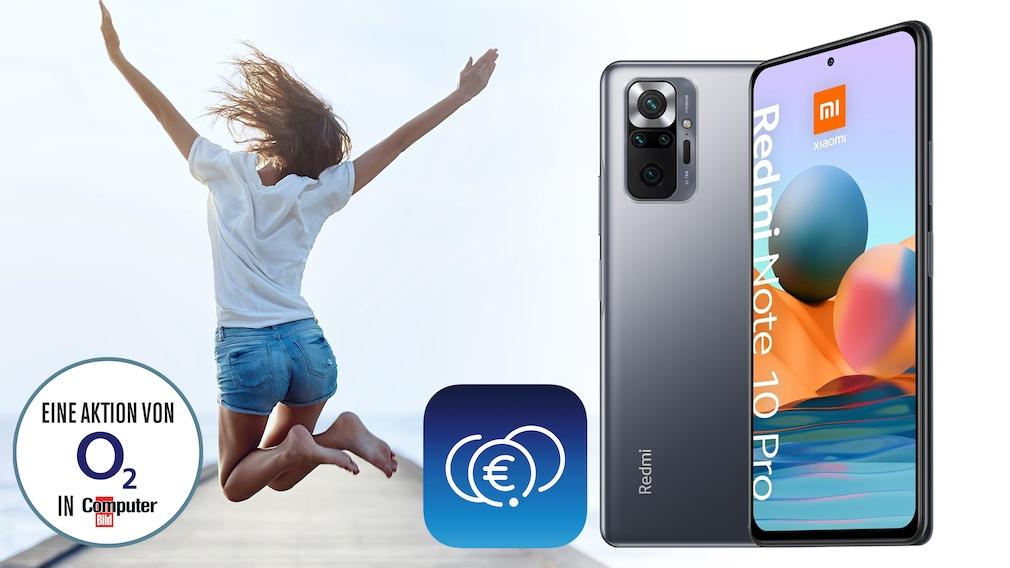 Bewerben Sie sich als Lesertester und erhalten Sie ein Xiaomi Redmi Note 10 Pro, mit dem Sie die O2 Money-App ausgiebig testen können!