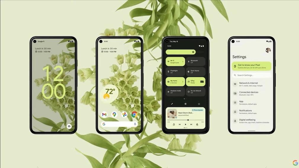Screenshots Android 12