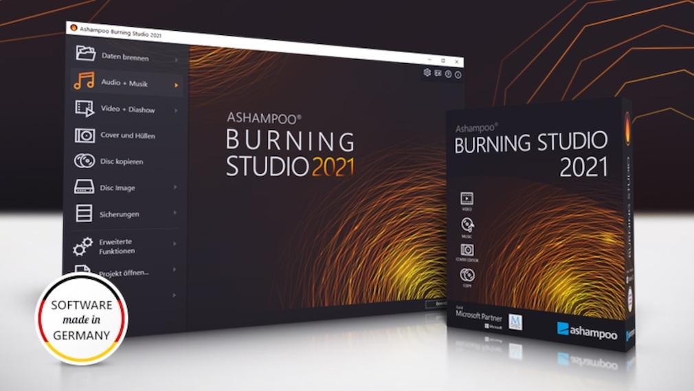 Gratis-Download: Brennsoftware Ashampoo Burning Studio 2021