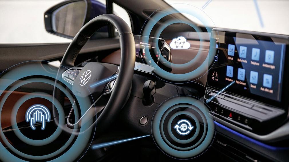 Digitales Cockpit des neuen ID.4 mit zentralem Touch-Display