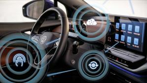 Digitales Cockpit des neuen ID.4 mit zentralem Touch-Display©Volkswagen AG