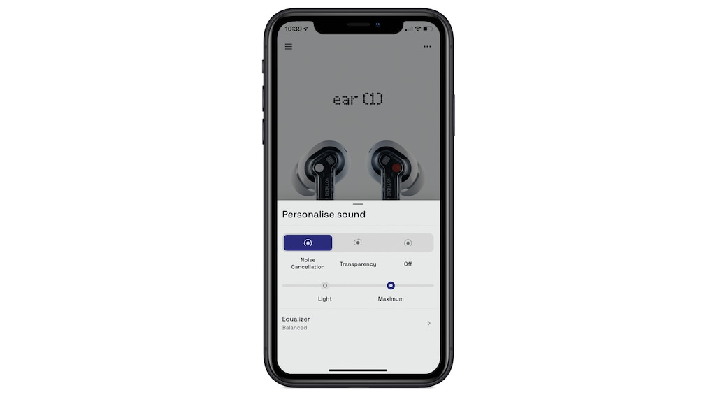 Nothing ear (1) im Test: App