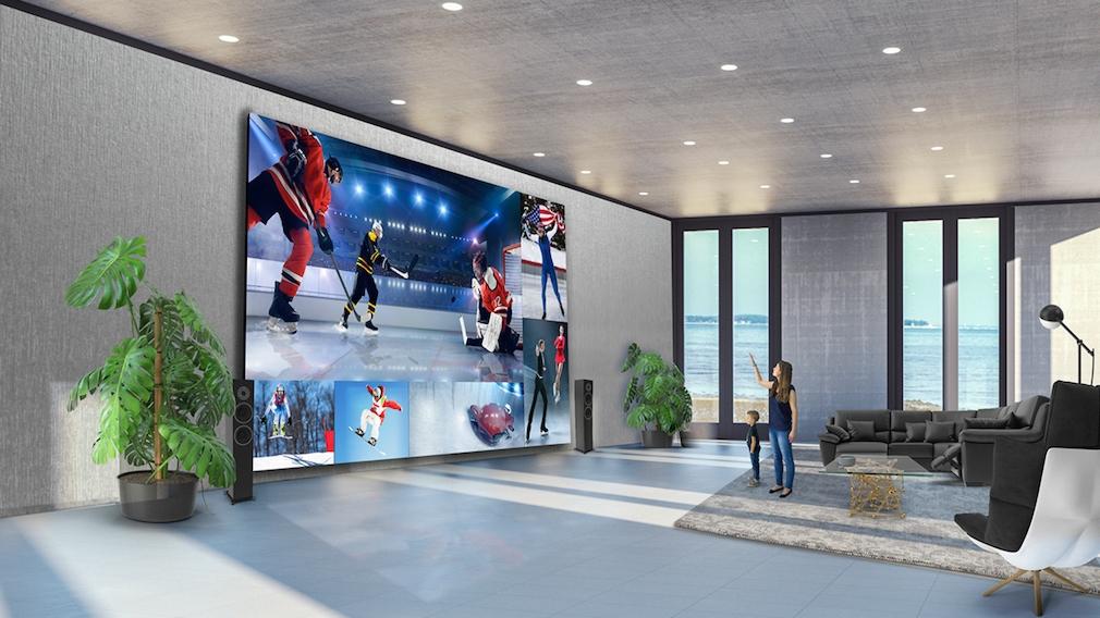 325 Zoll: LG-Fernseher für 1,7 Millionen US-Dollar So sieht er aus: LGs überdimensionaler Fernseher mit 325 Zoll Bildschirmdiagonale.