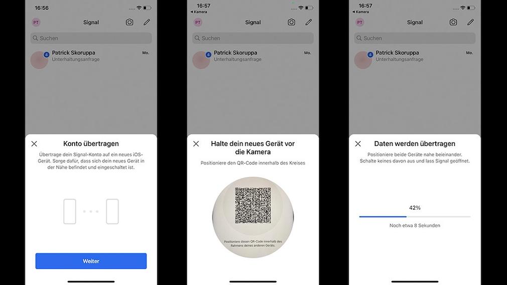 Signal von iOS zu iOS