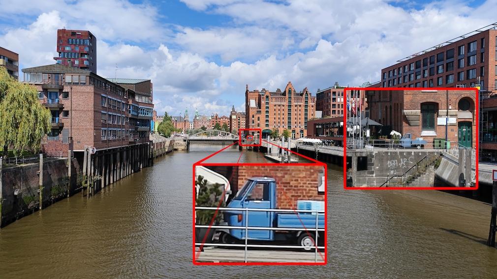 Kamera gegen Smartphone Zoom