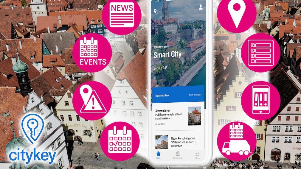 Telekom Citykey: App macht Amstgänge einfacher