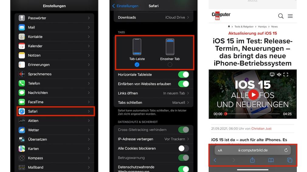 Screenshot Safari 15