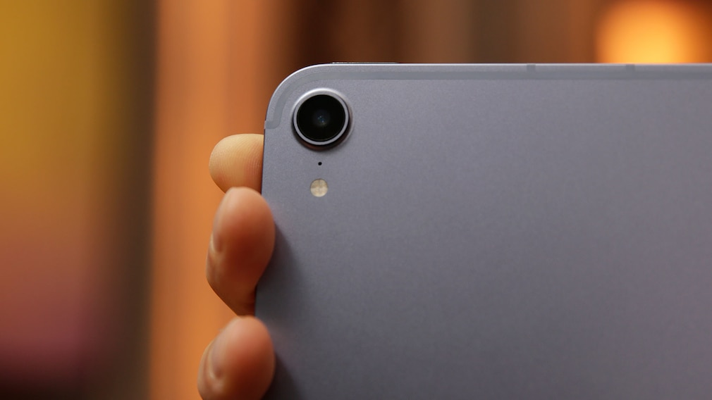iPad-Kamera in der Nahaufnahme.
