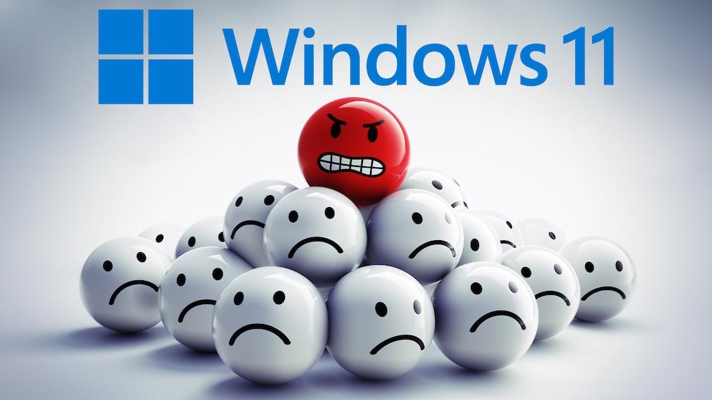 Windows 11 nervt: Dinge, aus aus meiner persönlichen Sicht stören Treibt Windows 11 Ihnen die Zornesröte ins Gesicht? Eher nicht, denn überwiegend überzeugt das Betriebssystem. Einiges Wenige ist aber lästig.