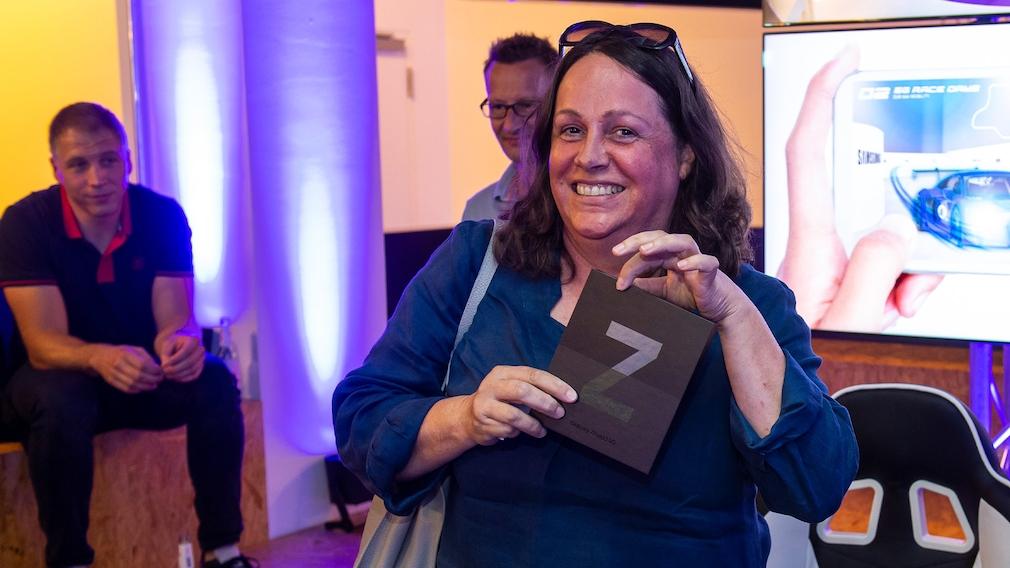 Nach dem Rennen durfte jeder Leser ein Samsung Galaxy Flip3 oder Fold3 mit nach Hause nehmen.