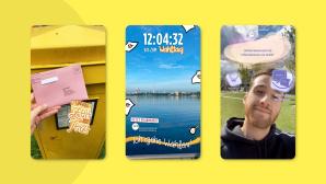Drei Bildausschnitte mit Snapchat-Stickern zur Wahl©Snapchat