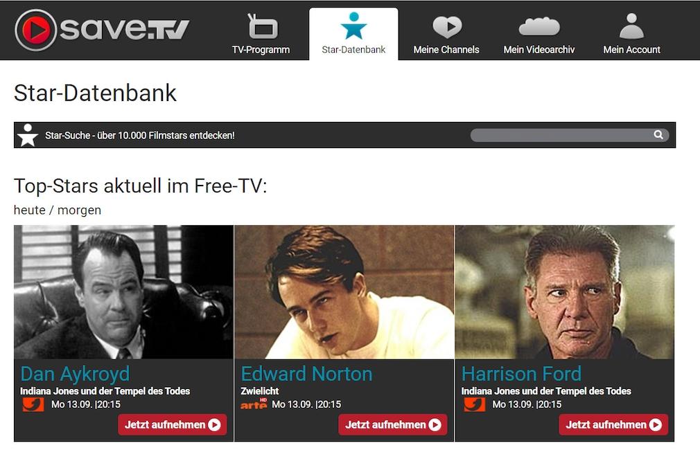 Die Save.TV-Datenbank