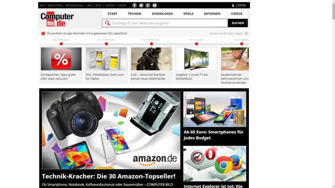 Alle Browser: Vollbild-Modus einschalten ©COMPUTER BILD