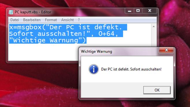 Eigene Windows-Fehlermeldungen produzieren ©COMPUTER BILD