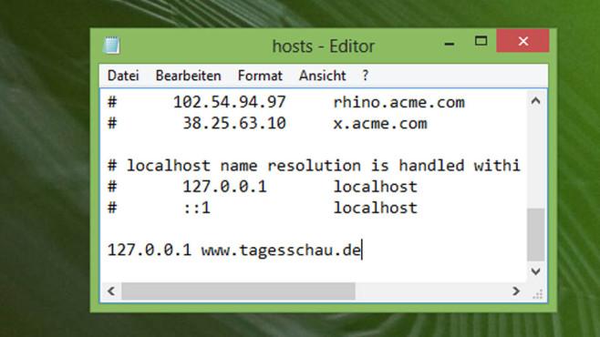 Webseiten sperren per Hosts-Datei ©COMPUTER BILD