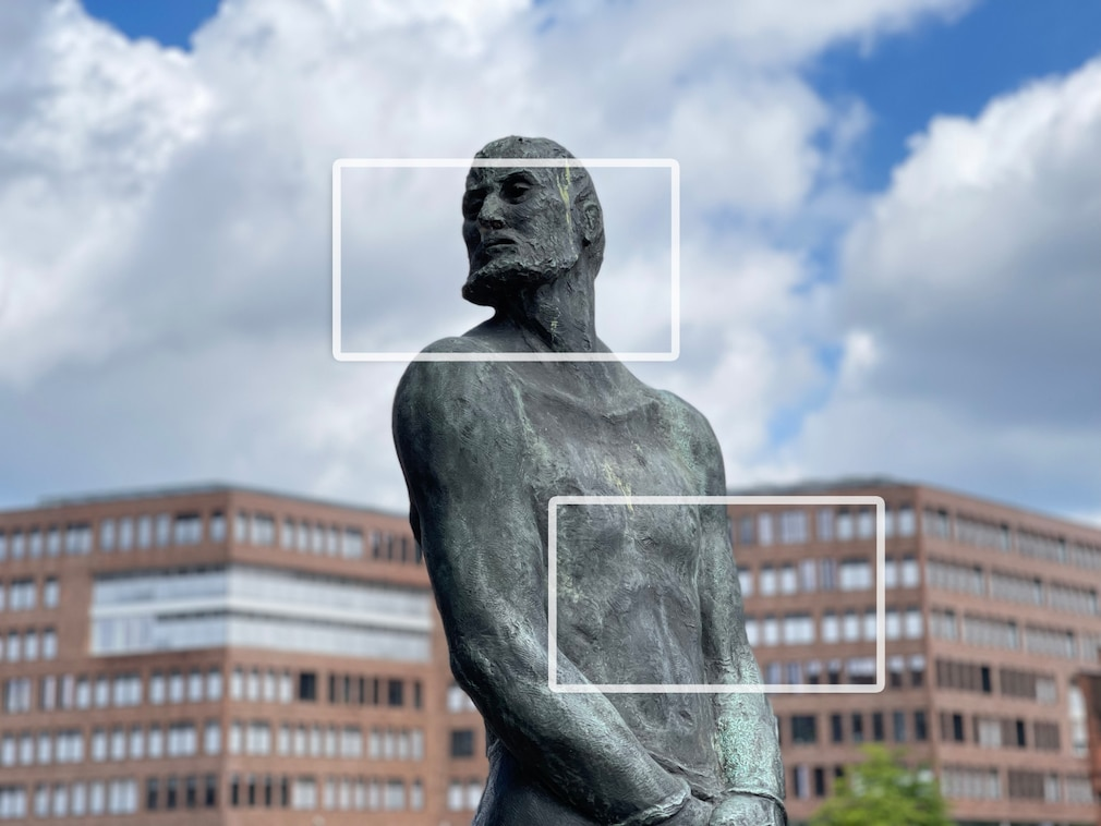 Kamera gegen Smartphone Porträt