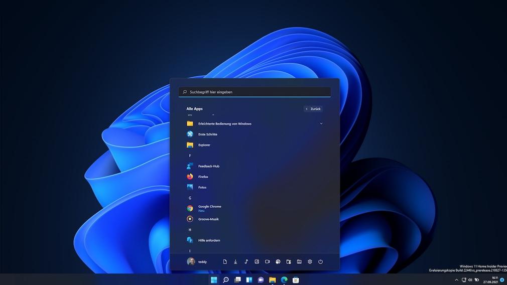 """Windows 11: Startmenü anpassen mit den besten Tipps und Tools Die Windows-11-Funktion """"Alle Apps"""" ist von Windows 10 bekannt. Bei Windows 7 hieß sie """"Alle Programme""""."""