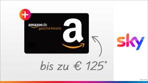 Amazon-Gutschein �ber 125 Euro: Jetzt Sky buchen und Bonus kassieren Jetzt Sky Q buchen und Amazon-Gutschein erhalten: Es winken bis zu 125 Euro.©Sky