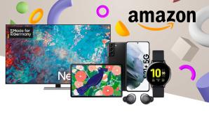 Samsung-Schnäppchen bei Amazon: Smartphone, Fernseher & Co zu starken Preisen©iStock.com/sirawit99, iStock.com/Dmytro Bochkov, Samsung, Amazon