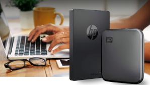 Externe SSDs im Test: HP P700 gegen WD Elements SE©Western Digital, HP, iStock, Montage: COMPUTER BILD