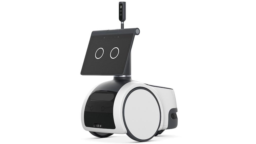 Amazon-Roboter vor weißem Hintergrund