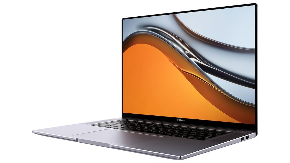 Huawei MateBook 16 vor weißem Hintergrund.