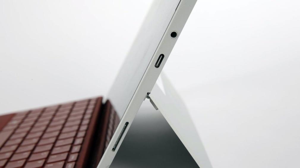 Detailaufnahme des Microsoft Surface Go 3
