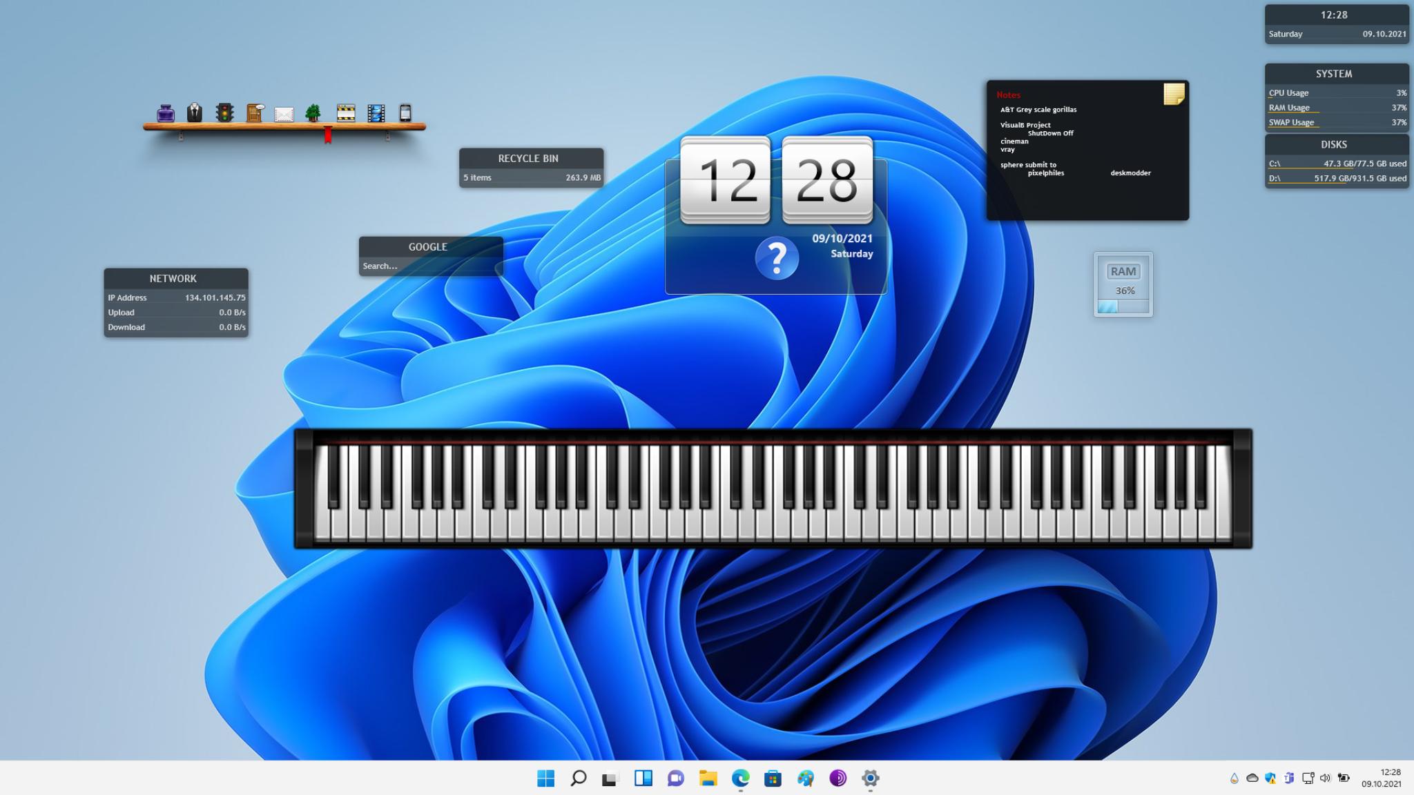 Rainmeter: Anleitung zum Desktop-Modding von Windows 10 und Windows 11