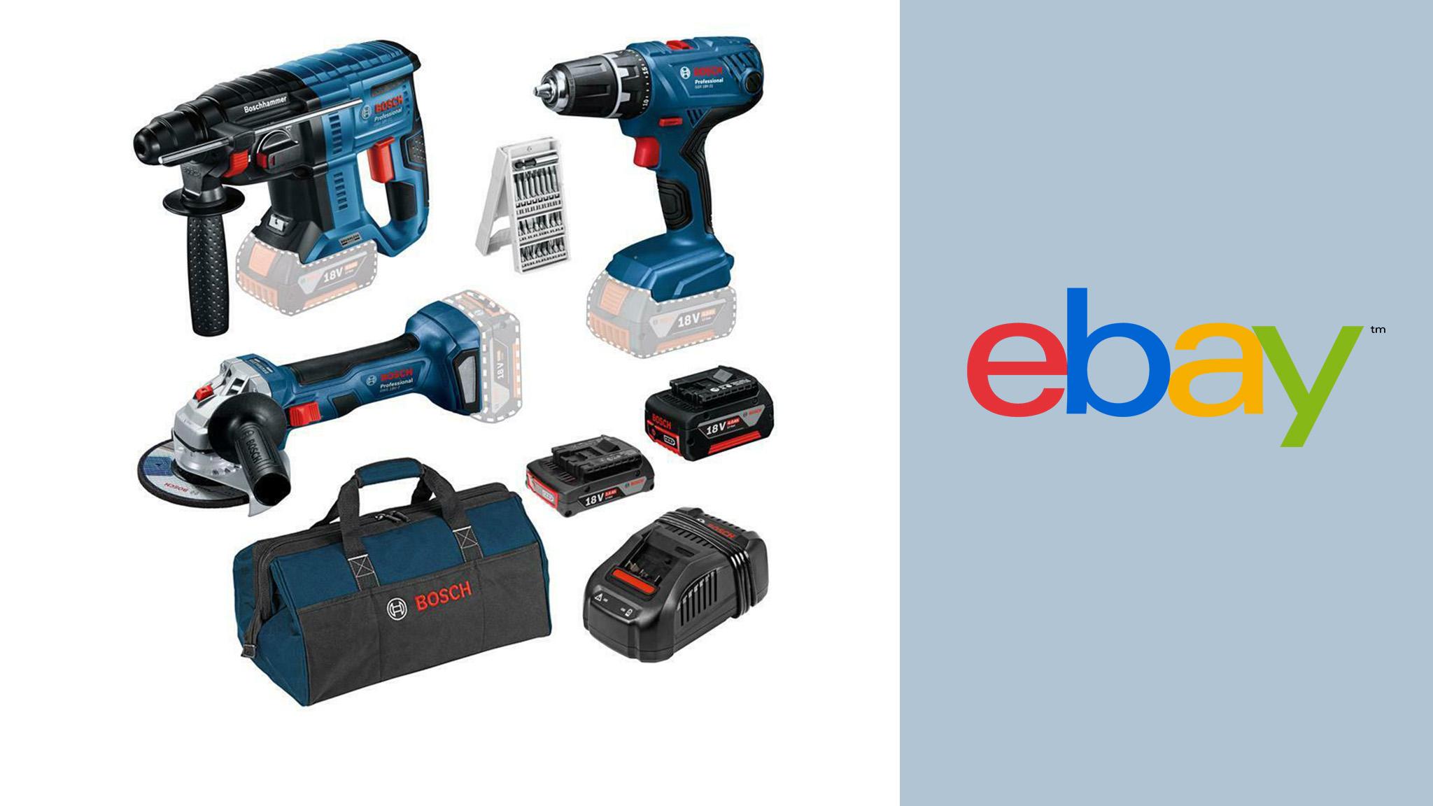Bosch im Ebay-Angebot: Werkzeug-Set für knapp 300 Euro ergattern!