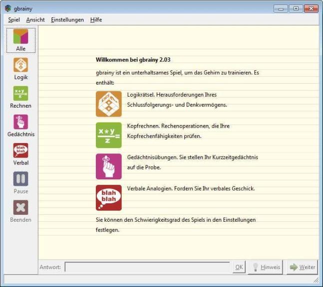 Screenshot 1 - gBrainy