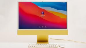 Gelber iMac vor grauem HIntergrund.©COMPUTER BILD
