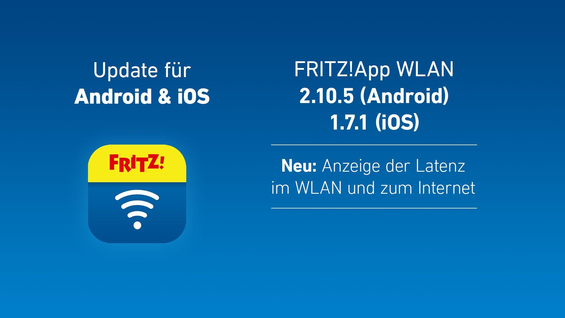 AVM FritzApp WLAN: Update bringt Latenzanzeige