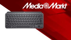 Logitech MX Keys Mini neben Media-Markt-Logo©Media Markt, iStock.com/saicle, LOGITECH