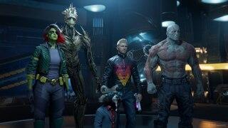 Alle Guardians of the Galaxy stehen vereint.