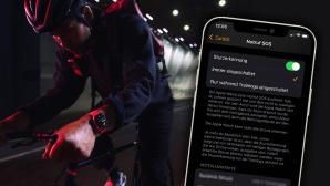 : Das steckt hinter der neuen SOS-Funktion Mit watchOS 8.1 hat Apple die Sturzerkennung für Sport freigeschaltet.©Apple, Montage: COMPUTER BILD