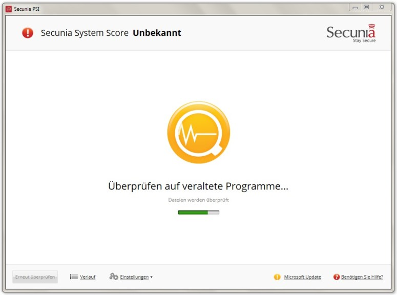 Screenshot 1 - Secunia Personal Software Inspector (PSI)